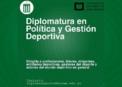 Diplomatura en Política y Gestión Deportiva