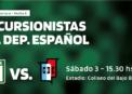 Excursio recibe a Deportivo Español